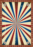 Old poster patriotic background Royalty Free Stock Image