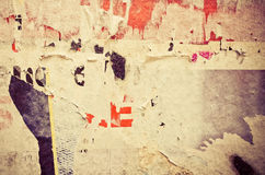 Old posters grunge textures Royalty Free Stock Photography