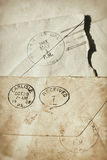 Old postmarked envelopes. Antique postmarked envelopes from over 100 years ago Royalty Free Stock Image