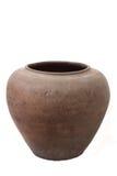 Old pot. Vintage old pot in studio stock photos