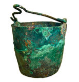 Old pot from the bronze age Stock Photography