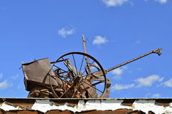 An old potato planter is full of rust Stock Photography