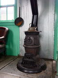 Old Potbellied Stove In Restored Train Car Stock Photos