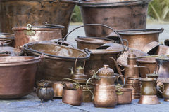 Old pots and pans Stock Photos