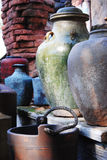 Old Pottery. A collection of old ceramic pottery Royalty Free Stock Photography