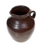 Old Pottery Jug Angle View Stock Photography