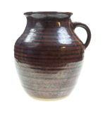 Old Pottery Jug Front View Royalty Free Stock Images