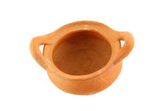 Old pottery pot opened Royalty Free Stock Image