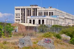 Old Power House: Abandoned and Tagged in Fremantle, Western Australia royalty free stock photo