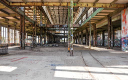 Old Power House Ruins: Rusted and Tagged Royalty Free Stock Photography