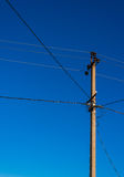 Old power line. Royalty Free Stock Image
