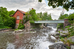 Old power plant in Vanhankaupunginkoski, Helsinki, Finland Royalty Free Stock Image