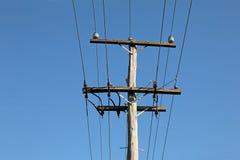 Old power pole Stock Photo