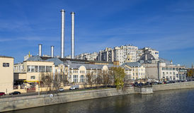 The old power station in central Moscow. Royalty Free Stock Photo