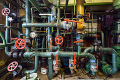 Old power station pipes Royalty Free Stock Images