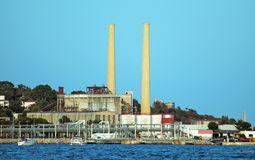 Old power station. Old power station in Port de Alcudia Stock Photos