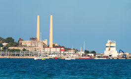 Old power station. Old power station in Port de Alcudia Stock Photography