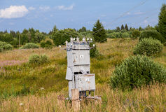 Old power transformer substation Royalty Free Stock Photography