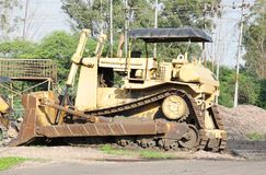 An old powerful bulldozer Stock Images