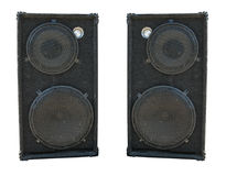 Old powerful stage concerto audio speakers Royalty Free Stock Photography