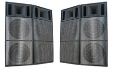 Old powerful stage concerto audio speakers Stock Images