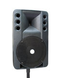 Old powerfull concerto audio speaker isolated Royalty Free Stock Image