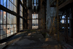Old powerplant. Old deserted powerplant in belgium royalty free stock photos