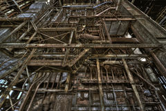 Old powerplant. Old deserted powerplant in belgium Royalty Free Stock Photography