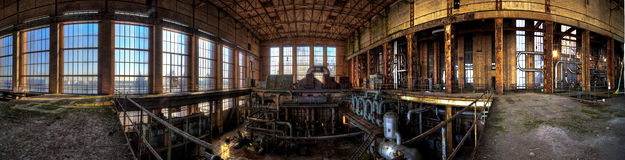 Old powerplant. Old deserted powerplant in belgium royalty free stock images