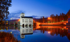The old powerplant by night Royalty Free Stock Images