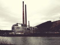 Power plant of shawville royalty free stock photography