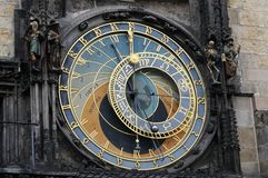 Old prague astronomical clock with apostels Stock Photo