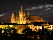 Old Prague Castle in the night Royalty Free Stock Photography