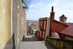 Old Prague castle steps Royalty Free Stock Photography