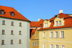 Old Prague houses Stock Photography