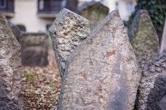 Old Prague Jewish cemetery Stock Photography