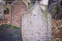 Old Prague Jewish cemetery Stock Image