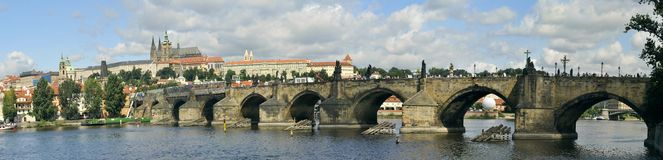 Old Prague Karl Bridge Stock Photography