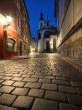 Old Prague at night Stock Photo