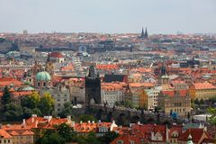 Old Prague panorama Royalty Free Stock Photos