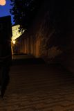 In the old Prague under Castle steps Royalty Free Stock Image