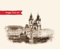 Old Prague view Royalty Free Stock Image