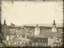 Old prague vintage postcard Royalty Free Stock Photo
