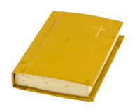 Old prayer book with hard cover isolated on white Royalty Free Stock Photo