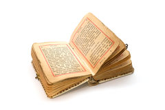 Old prayer book isolated on white background Stock Photography