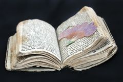 Old prayer book from the 17th century Stock Image