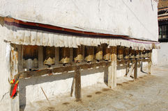 Old prayer wheels Stock Image