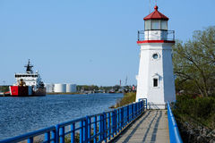 Old Presque Isle Lighthouse, built in 1884 Royalty Free Stock Photo