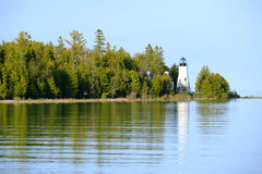 Old Presque Isle Lighthouse, built in 1840 Stock Photos