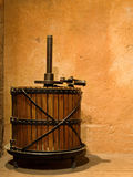 Old press. Antique manual press for grapes Royalty Free Stock Photography